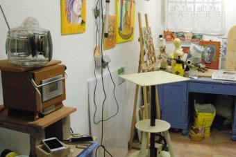 Atelier mit Emailofen