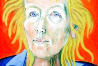 2004 Selbstportrait für Vincent Tempera auf Leinwand 40x50cm