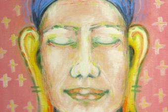 2006 Buddha Tempera auf Leinwand 40x50cm