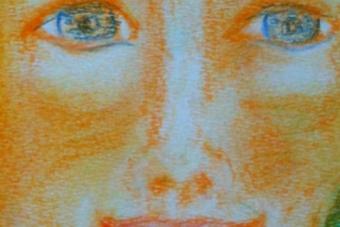 2013 Aegyptischer Gott Pastell 15x21cm