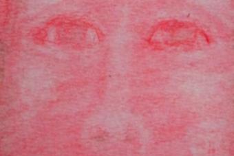 2013 Frau in Rot Pastell 15x21cm
