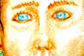 2013 Frau mit zwei Dutts Pastell 15x21cm