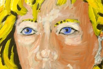 2014 Goldmarie I Acryl auf Leinwand 24x30cm