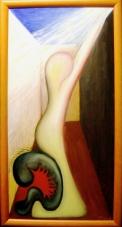 2003 Ichnehmdichmit Tempera auf Leinwand 40x80cn