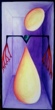2003 Zugriff auf die Seele Tempera auf Holz 60x120cm