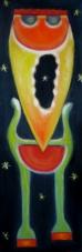 2004 Nachtlaeufer Tempera auf Leinwand 30x90cm