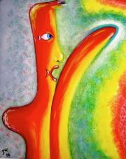2006 Asphaltcowboy Tempera auf Leinwand 40x50cm