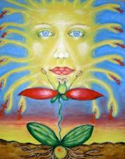 2006 Sonnenkuss Tempera auf Leinwand 40x50cm