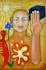 2007 Sinne und Seele Tempera auf Leinwand 60x90cm