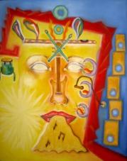 2010 Musik Tempera auf Leinwand 40x50cm verkauft