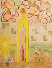 2018 Denk Bild III Pastell auf Papier 40x50