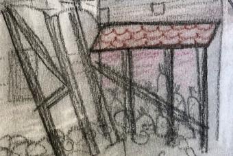 2020-Refektorium-Mailand-zerstoert-Pastell-15x21cm