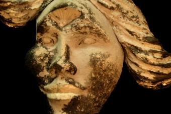 2014 Aufgehendes drittes Auge Keramik H26cm verkauft
