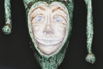 1989 Eulenspiegel Keramik 2H7cm