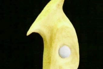 1999 Blauäugig Keramik H65cm