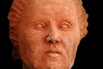 1998 Blinde Römerin Keramik H27cm